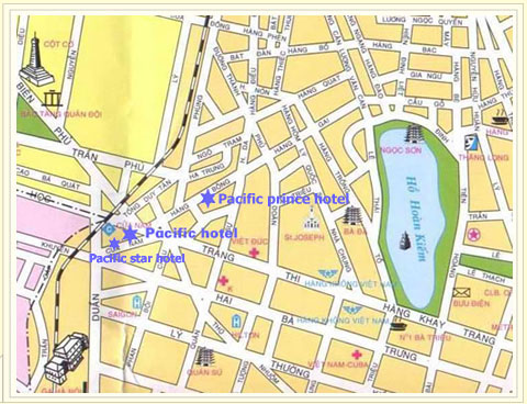 Pacific Hotels Hanoi Location , Pacific Hotels Hanoi Map , Pacific ...